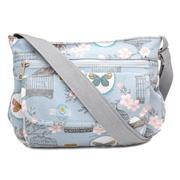 Blue Bird Cage & Butterfly Print Cross Body Bag (Click For Details)