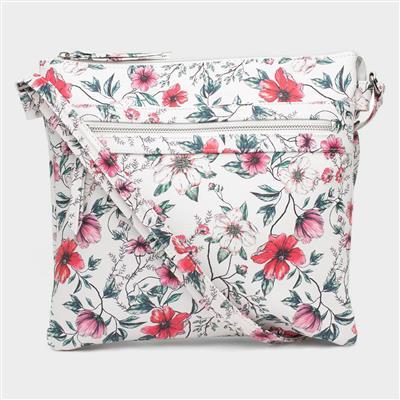 White Floral Cross Body Bag