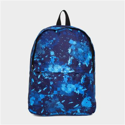 Kids Blue Graphic Print Backpack