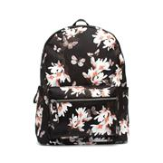 Black & Floral Print Backpack (Click For Details)