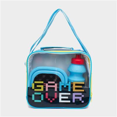 Kids Gaming Multi Colour Lunch Bag Set