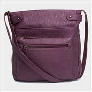 Lilley Womens Burgundy Cross Body Handbag (Click For Details)