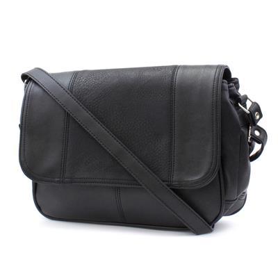 Black Organiser Shoulder Bag