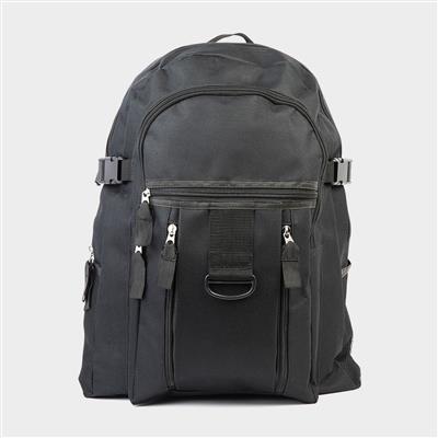 Black Backpack with Multi Pocket