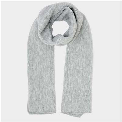 Womens Grey Knitted Scarf