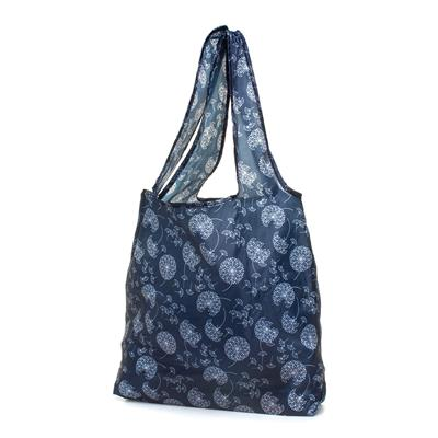 Navy Floral Shopping Bag