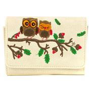 Beige Owl Embroidered Purse (Click For Details)