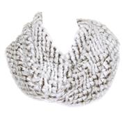 Womens White & Grey Faux Fur Snood Scarf (Click For Details)