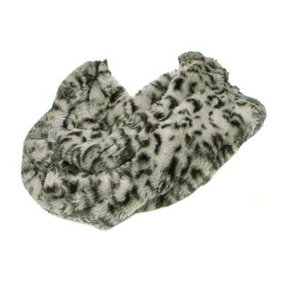 Womens Grey Leopard Snood