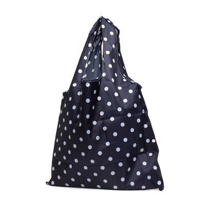 Navy Polka Dot Fold Up Shopper Bag