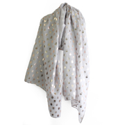 Lilley Grey Owl Scarf (Click For Details)