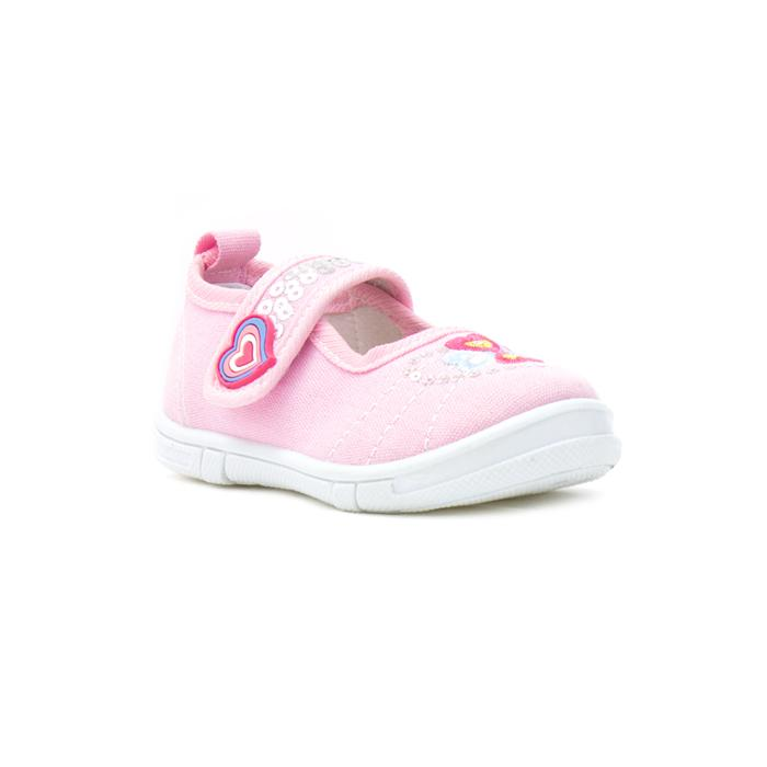 Girl's shoe with easy fastening