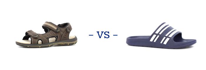 Sandals vs Sliders
