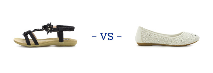 Sandals vs Ballet Shoes
