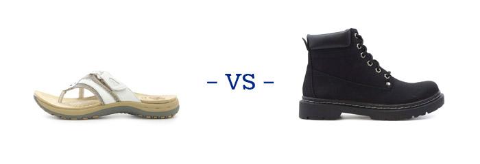 Sandals vs Boots