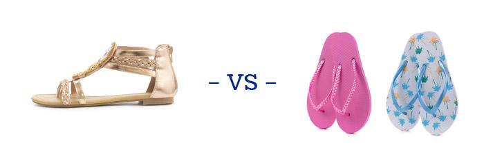 Sandals vs Flip Flops