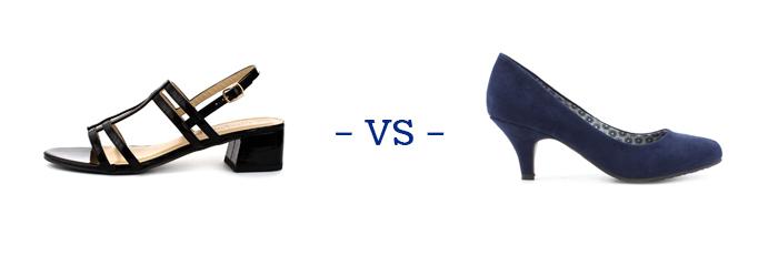 Sandals vs Heels