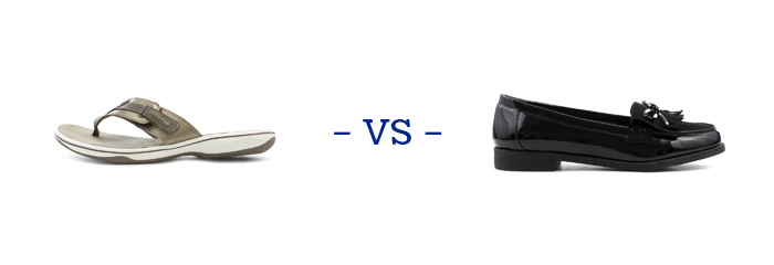 Sandals vs Shoes