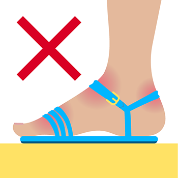 Too Small Sandals