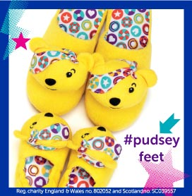Pudsey BBC Children in Need Slippers