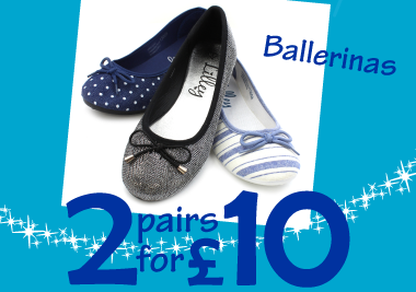 2 pairs for £10 Ballerinas