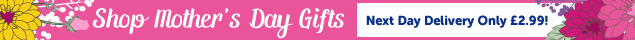 Shop Mothers Day Gifts Next Day Delivery only £2.99