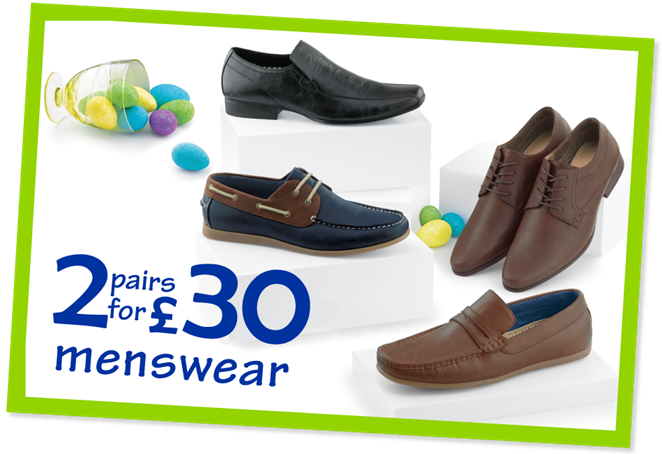 2 pairs for £30 Menswear