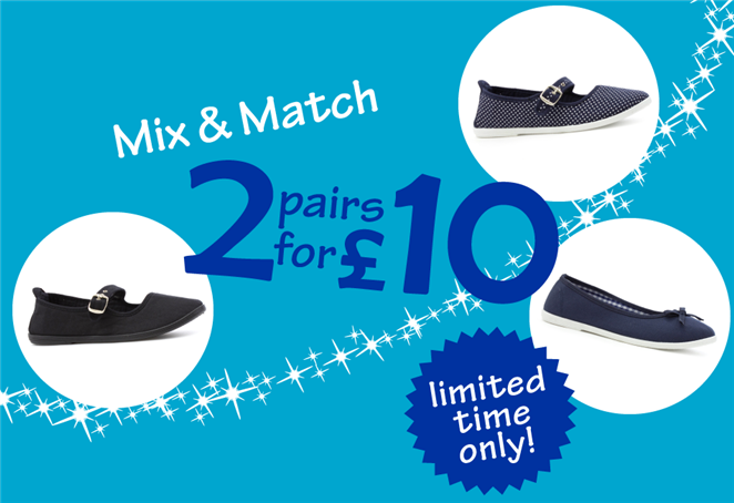 Mix & Match 2 pairs for £10 Limited Time Only!