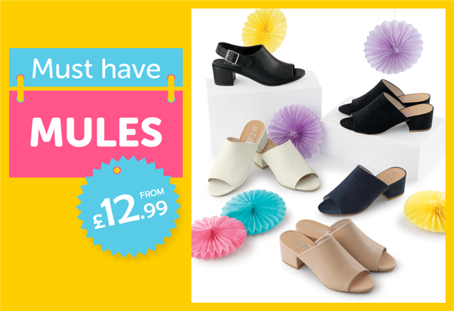 Must Haves Mules from £12.99