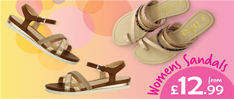 Womens Sandals from £12.99