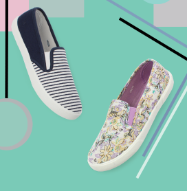 Patterned Canvas Shoes