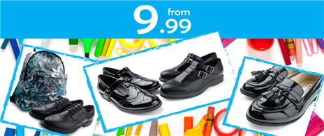 School Shoes from £9.99