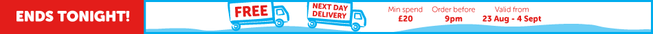 FREE Next Day Delivery when you spend £20 or more.