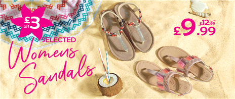 £3 off selected Womens Sandals