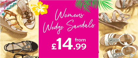 Womens Wedge Sandals from £14.99
