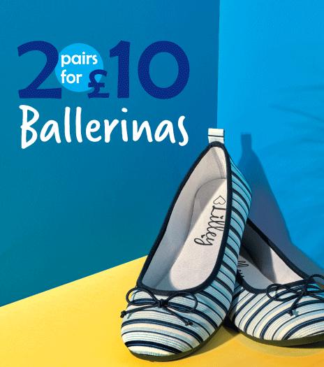 2 pairs for £10 Ballerinas