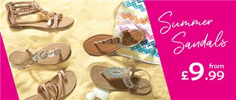 Womens Summer Sandals from £9.99