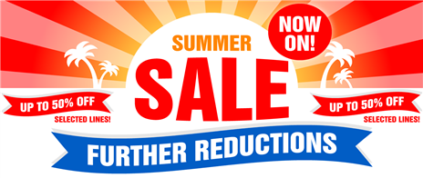 Summer Sale - up to 50% off selected lines