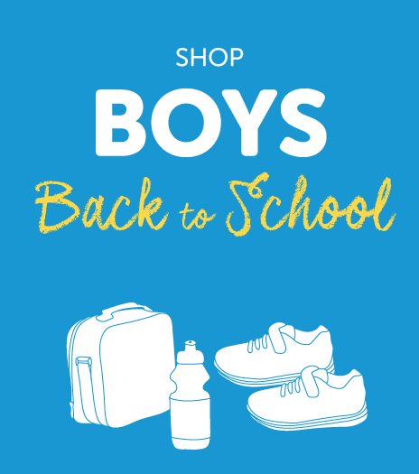 Shop our range of boys Back to School footwear & accessories