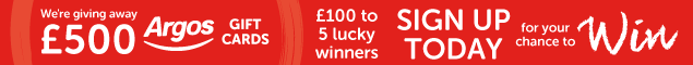 For a chance to win one of five £100 Argos vouchers join our email club today!