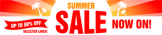 Summer Sale Now On - up to 50% off selected lines!