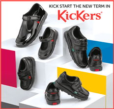 Kick start the new term in Kickers - browse our range of styles today!