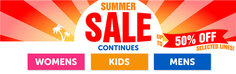 Shop our Summer Sale - with up to 50% off selected lines!