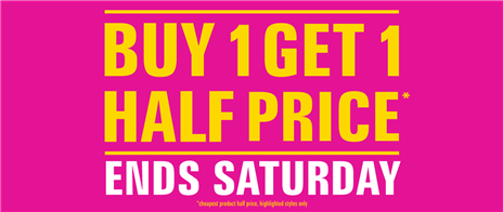 Buy One Get One Half Price