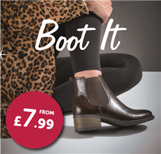 Shop Womens Ankle Boots from £7.99