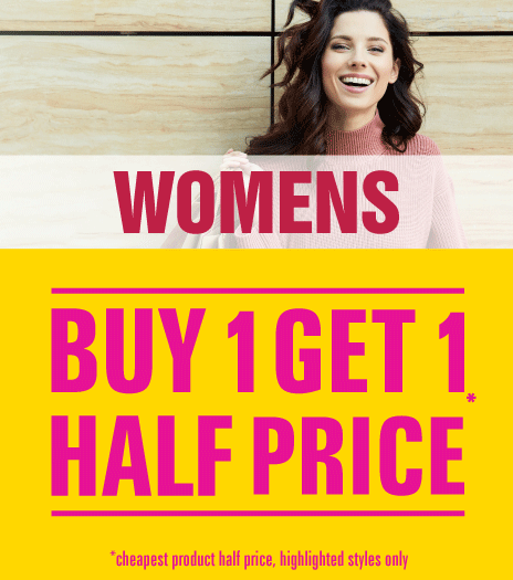 Shop Womens Buy One Get One Half Price