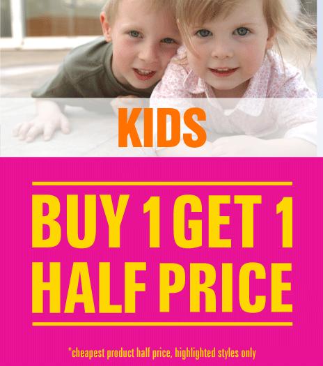 Shop Kids Buy One Get One Half Price