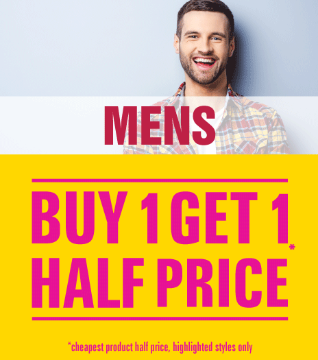 Shop Mens Buy One Get One Half Price