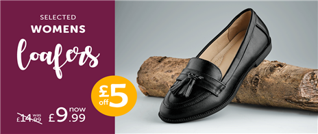 £5 off Selected Womens Loafers