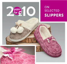 Shop 2 for £10 Slippers